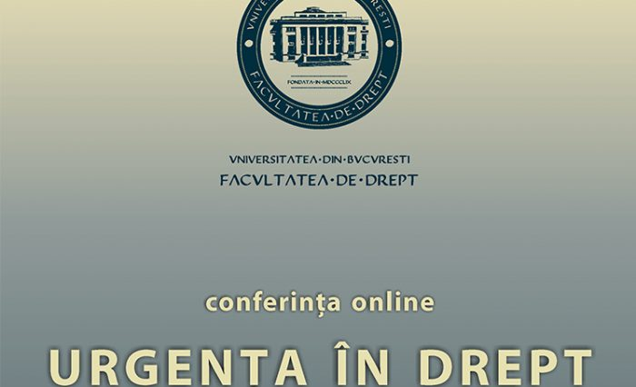 conferinta online urgenta in drept 2020